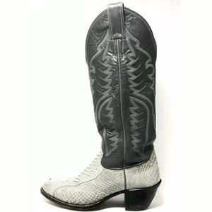 Justin Women's Leather Snakeskin Cowboy Boots